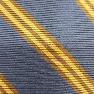 Brooks Brothers Regimental Blue Gold Silk Tie